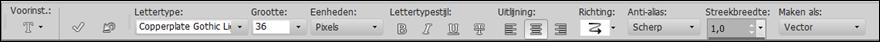 Instellingen font